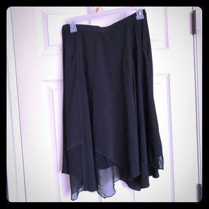 Banana Republic handkerchief hem black skirt